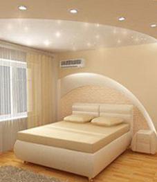 натяжные потолки воронеж, как подобрать потолки для спальни