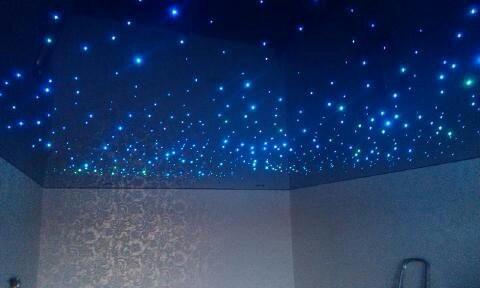 натяжной потолок вида звездное небо